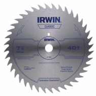 Irwin 11140 7-1/4 Inch 40 Tooth Steel Combination Circular Saw Blade