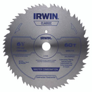 Irwin 11220 6-1/2 Inch 60 Tooth Classic Series Cordless Steel Circular Saw Blade