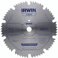 Irwin 11240 7-1/4 Inch 60 Tooth Portable Corded Steel Circular Saw Blade