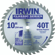 Irwin 15270 Classic Series 10 Inch 40 Tooth Blade 5/8 Inch Arbor