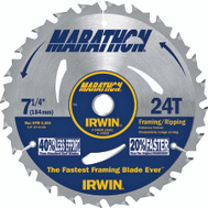 Irwin 24030 Marathon 7-1/4 Inch 24 Tooth Framing Ripping Carbide Circular Saw Blade