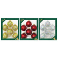 Christmas By Krebs TV310021A 6PK Spangle Ornament