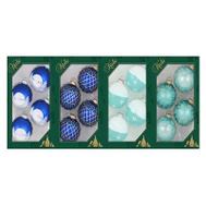 Christmas By Krebs TV510012A 4PK BLU GLS Ornament