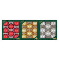 Christmas By Krebs TV510003A 8PK Shiny GLS Ornament