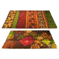Trade Associates 900503 Tapestry Stripe Or Floral Rubber Backed Coir Mat 18 By 30 Inch