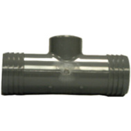Lasco Fittings 381486 1-1/2 By 1-1/2 By 3/4 Poly Reducing Tee Insert X Insert X FIP