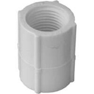 Lasco Fittings 30125 1/2 Inch White Threaded Coupling FIP X FIP