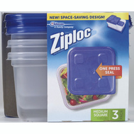 SC Johnson 70937 Ziploc 3CT 5C SQ MED Container