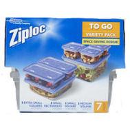 Ziploc 709391 7CT Variety PK To Go