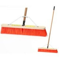 Simple Spaces 93135 Push Broom W/Brace 24In Stiff