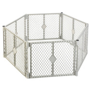 North States 8666 GRY 6 Panel Play Gate