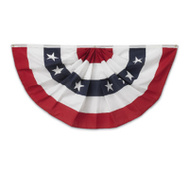 Annin Flagmakers 483200R 3 By 6 Foot Pleated Polycotton Fan With 5 Stripes And Stars
