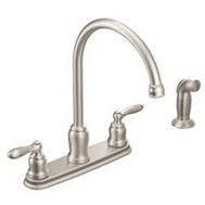 Moen CA87060SRS Faucet Hi-Arc W/Sd Spray 2 Hdl