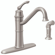 Moen 87999SRS Wetherly Single Handle High Arc Kitchen Faucet With Side Spray Spot Resistant Stainless Steel