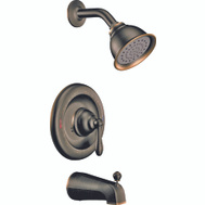 Moen 82496EPBRB Caldwell Single Handle Tub And Shower Set Mediterranean Bronze