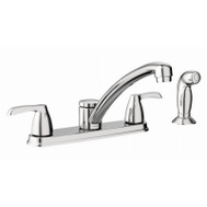 Moen CA87681 Adler 2 Handle Kitchen Faucet Chrome With Spray