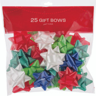 Santas Forest 68817 Bows Bagged 25Ct Sticky Back