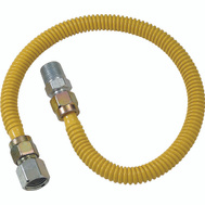 Brass Craft CSSD54-30 Plumb Shop Stainless Steel Gas Connector 1/2 Inch By 1/2 Inch Male By 30 Inch