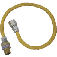 Brass Craft CSSL54-12 Plumb Shop Stainless Steel Gas Connector 1/2 Inch Female By 1/2 Inch Male By 12 Inch