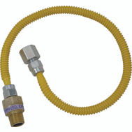 Brass Craft CSSL54-48 Plumb Shop Stainless Steel Gas Connector 1/2 Inch Female By 1/2 Inch Male By 48 Inch
