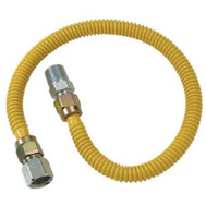 Brass Craft CSSD54-48 P Plumb Shop Gas Heater Connectors 1/2 Inch Female Iron Pipe By 1/2 Inch Male Iron Pipe By 48