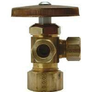 Brass Craft CR1901LRX R1 Plumb Shop Dual Outlet Angle Valve 1/2 Inch Nominal Compression