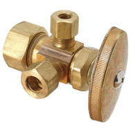 Brass Craft CR1901LRX RD Plumb Shop 5/8 Inch X 3/8 Inch Dual Outlet Valve