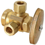 Brass Craft R1701LRX RD Plumb Shop 1/2 Inch X 3/8 Inch Dual Outlet Valve
