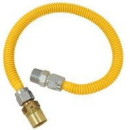 Brass Craft CSSC91E-48 P Plumb Shop Evf Gas Connector 5/8 Inch Female Flare By 3/4 Inch Male Iron Pipe By 48 Inch