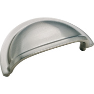 Amerock BP4235G9 Advantage Solid Brass Cabinet Cup Pull 3-1/4 Inch Sterling Nickel Finish