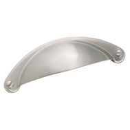 Amerock BP9365G10 Essentialz Essential Z Cup Cabinet Pull Satin Nickel