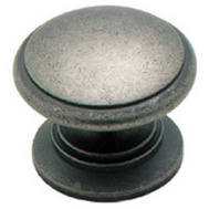 Amerock BP1466WN Hint of Heritage Solid Brass Mushroom Cabinet Knob Weathered Nickel Finish