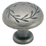 Amerock BP1581WN Botanica Leaf Cabinet Knob Weathered Nickel
