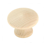 Amerock BP811-WD Allison Value Hardware Unfinished 1-1/4 Inch Cabinet Knobs Pack Of 2 Birch Wood