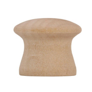 Amerock BP812WD Allison Value Hardware Unfinished Birch Wood 1 Inch Cabinet Knob Pack Of 2