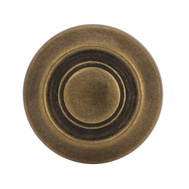 Amerock BP3423BB Allison Value Hardware Traditional Ring 1-1/4 Inch Zinc Cabinet Knob Burnished Brass