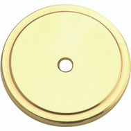 Amerock BP7603 Basic Traditional Classics 1-3/4 Inch Cabinet Knob Backplate Polished Brass