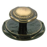 Amerock BP778AE Allison Value Collection Carriage House Style Cabinet Knob With 2 Inch Backplate In An Antique English Finish