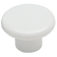 Amerock BP802PW Allison Value Hardware Round 1-1/4 Inch Plastic Cabinet Knob With A White Finish