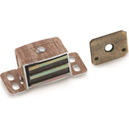 Amerock BP9798AW Magnetic Catch Heavy Duty Aluminum And Wood Grain Finish