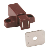 Amerock BP32301BR Single Magnetic Touch Catch Latch Brown