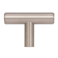 Amerock BP19009SS Bar Pulls Collections T-Style 1-15/16 Inch Cabinet Knob In A Stainless Steel Finish