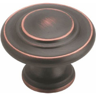 Amerock BP1586ORB Inspirations Ring Style 1-5/16 Inch Cabinet Knob Oil Rubbed Bronze
