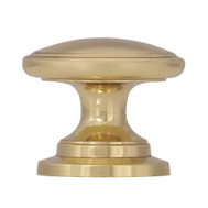 Amerock BP530123 Allison Value Hardware Classic Round 1-1/4 Inch Zinc Cabinet Knob In A Polished Brass Finish