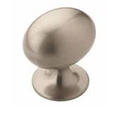 Amerock BP53018G10 Allison Value Hardware Oval 1-3/8 Inch Zinc Cabinet Knob Satin Nickel