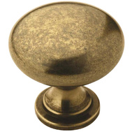 Amerock BP53005BB Allison Value Hardware Knob Rnd Burnshd Brass 1-1/4In