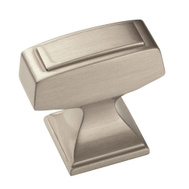 Amerock BP53029G10 Mulholland Traditional Mulholland Squared 1-1/4 Inch Cabinet Knob Satin Nickel