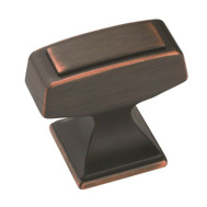 Amerock BP53029ORB Mulholland Traditional Squared 1-1/4 Inch Cabinet Knob Oil Rubbed Bronze