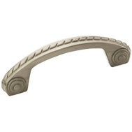 Amerock BP53470G10 Allison Value Hardware Scroll 3 Inch Center Zinc Cabinet Drawer Pull Satin Nickel