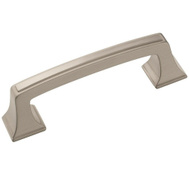 Amerock BP53030G10 Mulholland Traditional Squared 3-3/4 Inch Center Zinc Cabinet Drawer Pull Satin Nickel